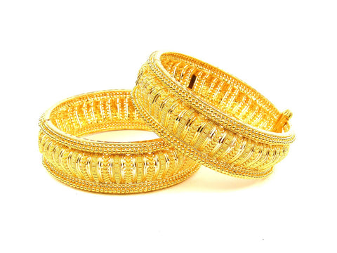 88.70g 22Kt Gold Yellow Bangle Set (Sz: 4) India Jewellery