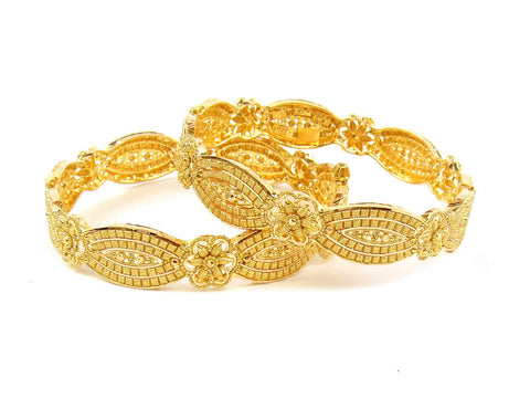 44.20g 22Kt Gold Yellow Bangle Set (Sz: 4) India Jewellery
