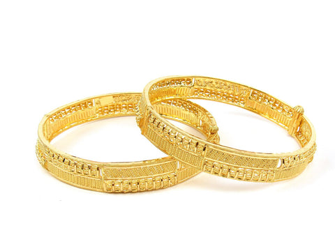 39.20g 22Kt Gold Yellow Bangle Set (Sz: 4) India Jewellery