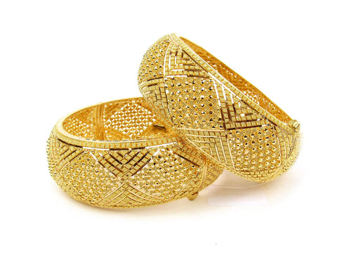 102.60g 22Kt Gold Yellow Bangle Set (Sz: 6) India Jewellery