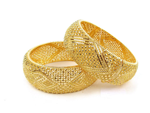 102.10g 22Kt Gold Yellow Bangle Set (Sz: 4) India Jewellery