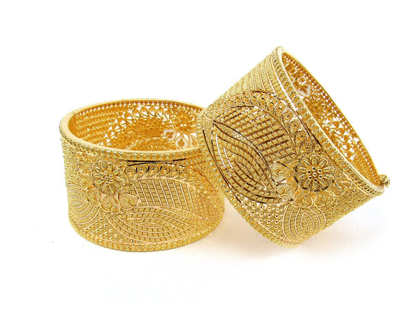 119.80g 22Kt Gold Yellow Bangle Set (Sz: 4) - 1242