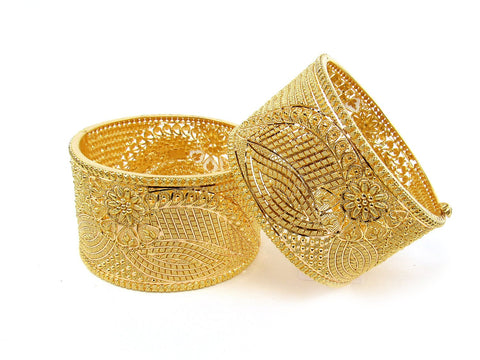 119.80g 22Kt Gold Yellow Bangle Set (Sz: 4) India Jewellery