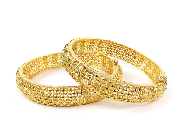 49.30g 22Kt Gold Yellow Bangle Set (Sz: 4) - 1245