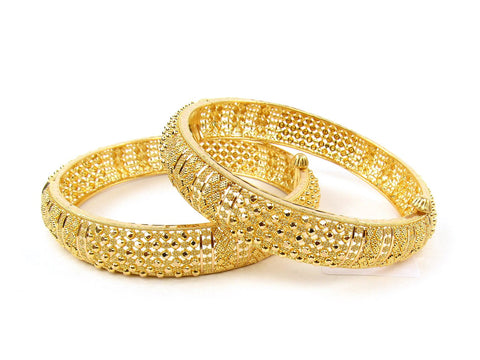 49.30g 22Kt Gold Yellow Bangle Set (Sz: 4) India Jewellery