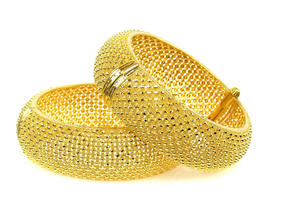 81.80g 22Kt Gold Yellow Bangle Set (Sz: 5) - 1296