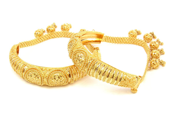 52.80g 22Kt Gold Yellow Bangle Set (Sz: 5) - 1435