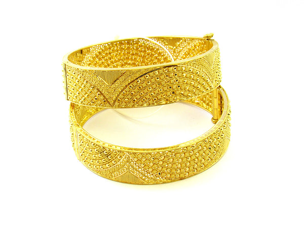 59.00g 22Kt Gold Yellow Bangle Set - 154