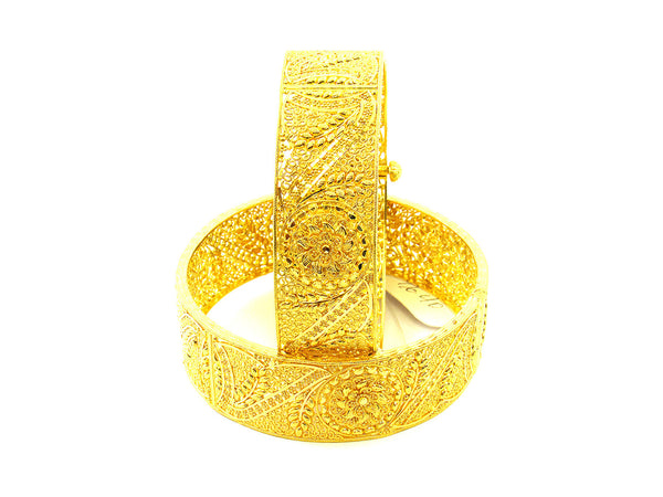 105.80g 22Kt Gold Yellow Bangle Set - 156