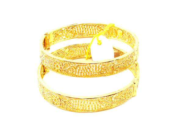 89.15g 22Kt Gold Yellow Bangle Set - 163