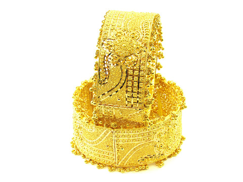 103.65g 22Kt Gold Yellow Bangle Set India Jewellery
