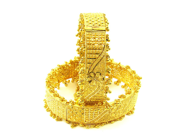 73.70g 22Kt Gold Yellow Bangle Set - 167
