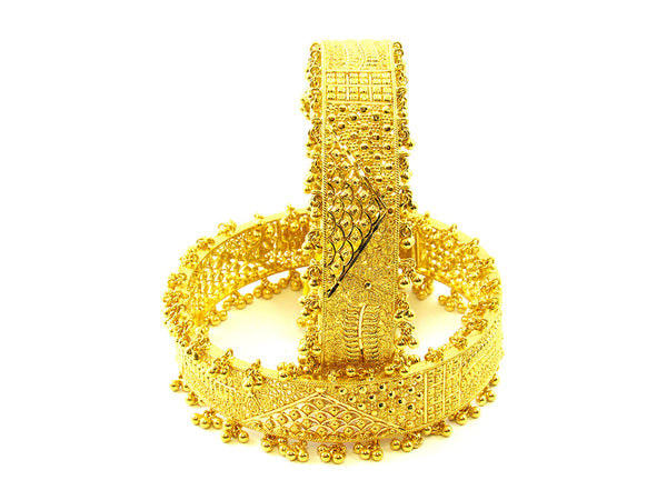 73.70g 22Kt Gold Yellow Bangle Set - 168