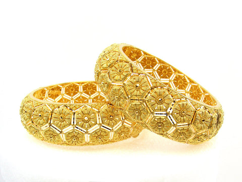101.85g 22Kt Gold Yellow Bangle Set (Sz: 5) India Jewellery