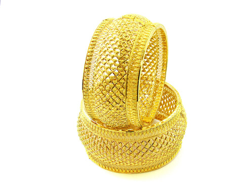 104.95g 22Kt Gold Yellow Bangle Set India Jewellery