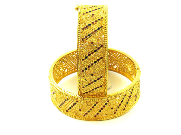 74.90g 22Kt Gold Yellow Bangle Set - 175