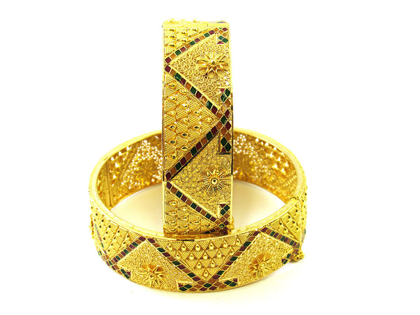 67.50g 22Kt Gold Yellow Bangle Set - 176