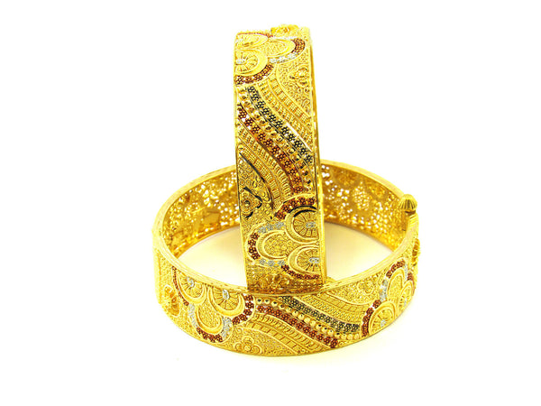 64.20g 22Kt Gold Yellow Bangle Set - 177