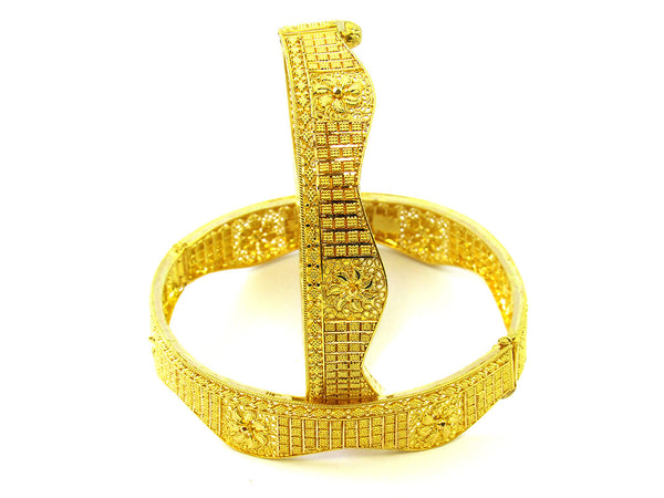 39.35g 22Kt Gold Yellow Bangle Set - 180