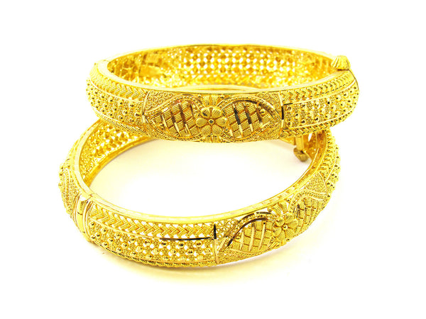 53.15g 22Kt Gold Yellow Bangle Set - 183