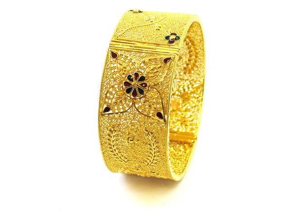 44.20g 22Kt Gold Yellow Bangle Set - 186