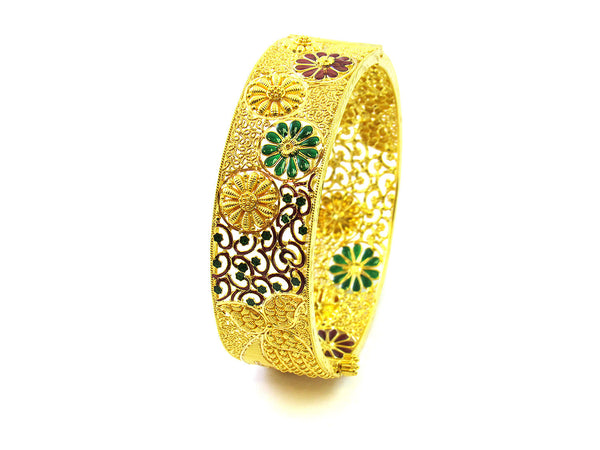 33.30g 22Kt Gold Yellow Bangle Set - 187