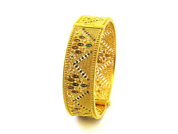 40.30g 22Kt Gold Yellow Bangle Set - 188