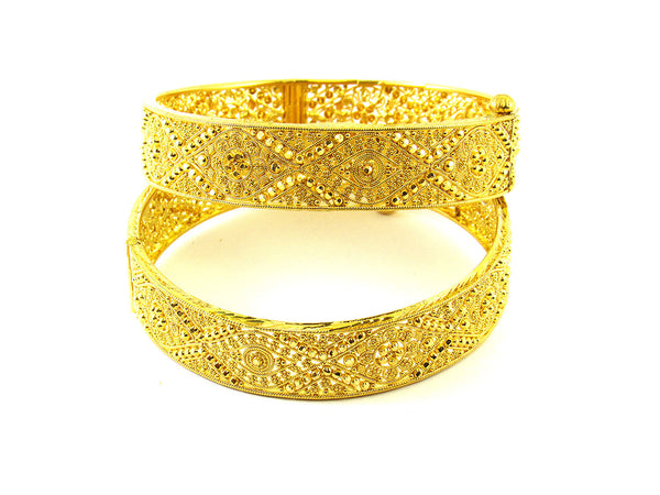 54.50g 22Kt Gold Yellow Bangle Set - 190