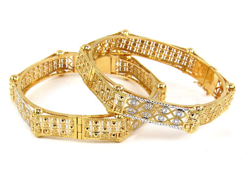 40.67g 22Kt Gold Yellow Bangle Set (Sz: 4)