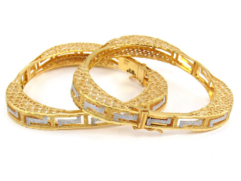 45.73g 22Kt Gold Yellow Bangle Set (Sz: 4)