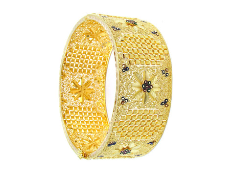 39.00g 22Kt Gold Yellow Bangle Set (Sz: 5)