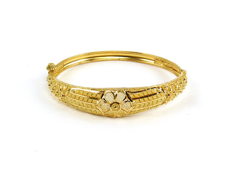 15.55g 22Kt Gold Yellow Bangle Set (Sz: 4)