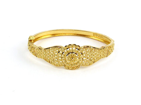12.75g 22Kt Gold Yellow Bangle Set (Sz: 4)