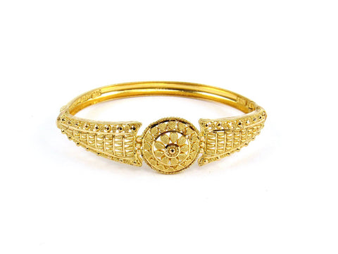 16.25g 22Kt Gold Yellow Bangle Set (Sz: 4)