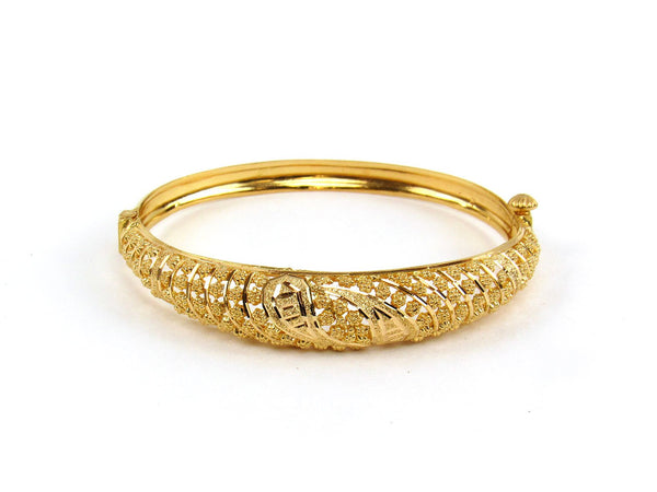 12.20g 22Kt Gold Yellow Bangle Set (Sz: 4) - 1928