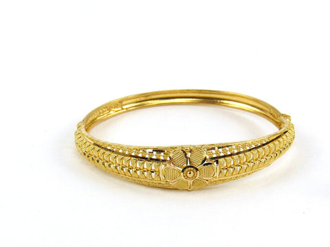 14.35g 22Kt Gold Yellow Bangle Set (Sz: 4)
