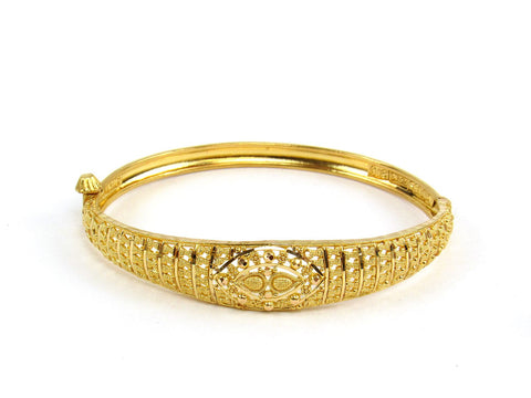 13.00g 22Kt Gold Yellow Bangle Set (Sz: 4)