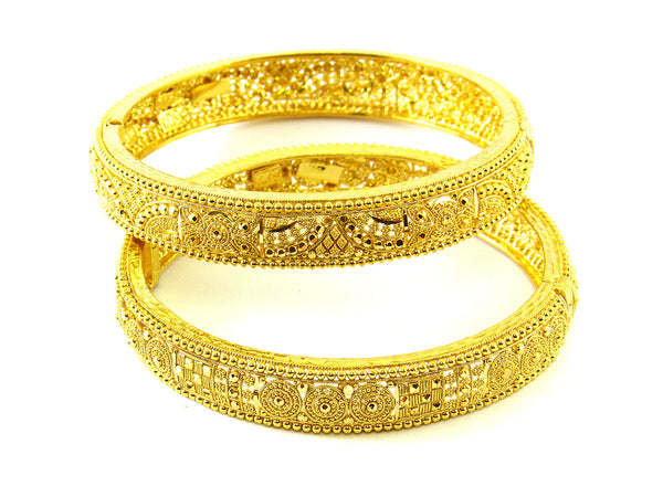 50.40g 22Kt Gold Yellow Bangle Set - 193