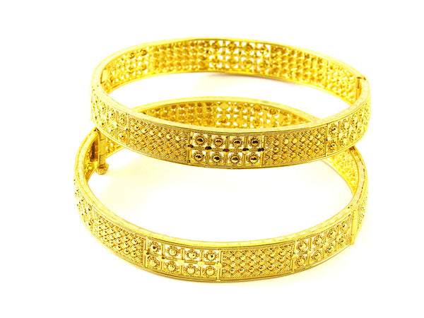 36.20g 22Kt Gold Yellow Bangle Set - 195