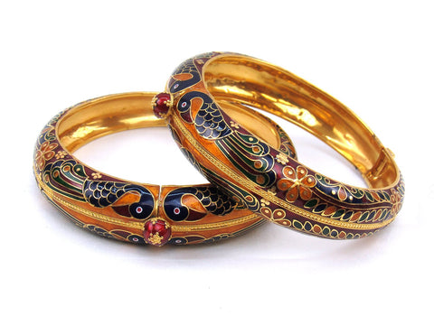 84.80g 22Kt Gold Yellow Bangle Set (Sz: 5) - 1983
