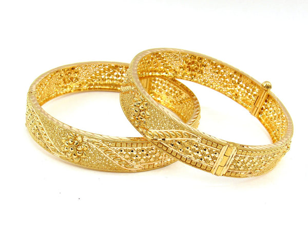50.50g 22Kt Gold Yellow Bangle Set (Sz: 5) - 1987