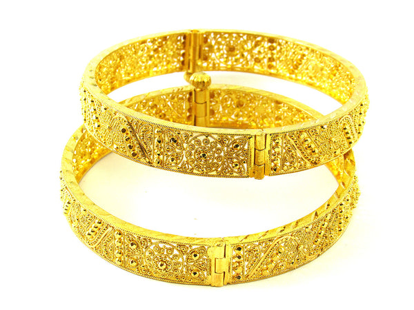 46.30g 22Kt Gold Yellow Bangle Set - 198