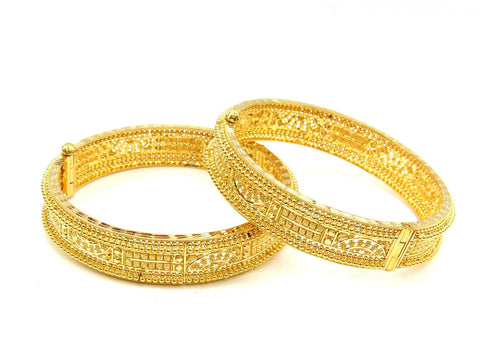 62.60g 22Kt Gold Yellow Bangle Set (Sz: 5) - 1992