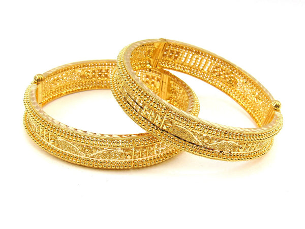 57.90g 22Kt Gold Yellow Bangle Set (Sz: 4) - 1993