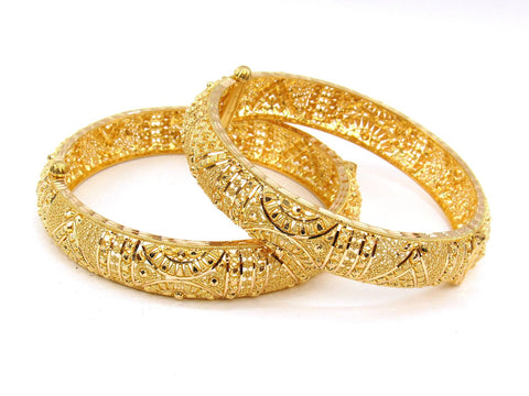55.40g 22Kt Gold Yellow Bangle Set (Sz: 5) - 1996