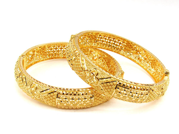 55.30g 22Kt Gold Yellow Bangle Set (Sz: 5) - 1997