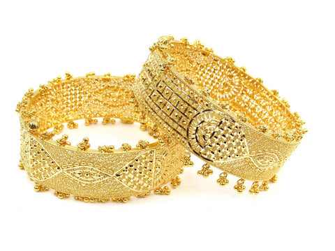 91.90g 22Kt Gold Yellow Bangle Set (Sz: 5) - 2001