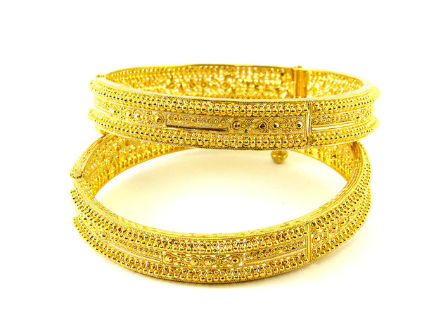 58.50g 22Kt Gold Yellow Bangle Set - 200