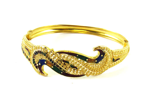 14.00g 22Kt Gold Yellow Bangle Set India Jewellery