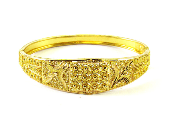 15.70g 22Kt Gold Yellow Bangle Set - 203